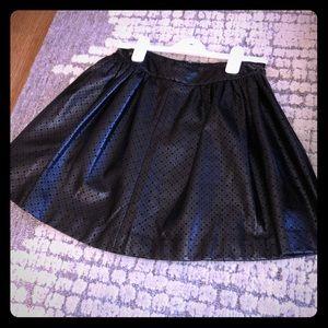 Banana Republic Perforated Pleather Skater Skirt